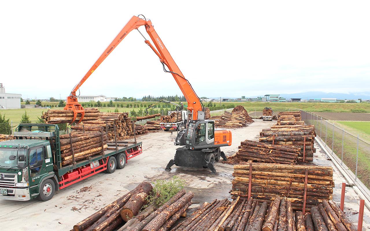 大型製材工場等に対して県産の原木の安定的な供給が可能